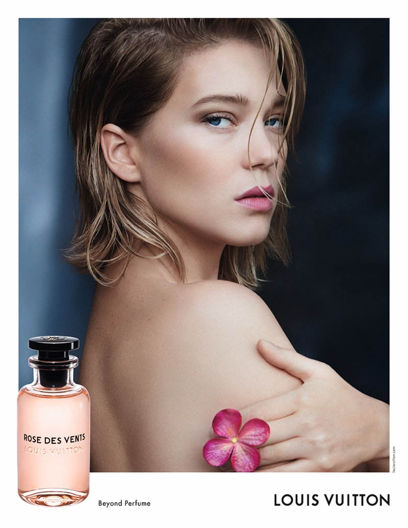 Lea Seydoux stars in the Louis Vuitton Rose des Vents Perfume Campaign