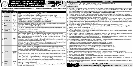 kth-jobs-2020-khyber-teaching-hospital-advertisement-application-form