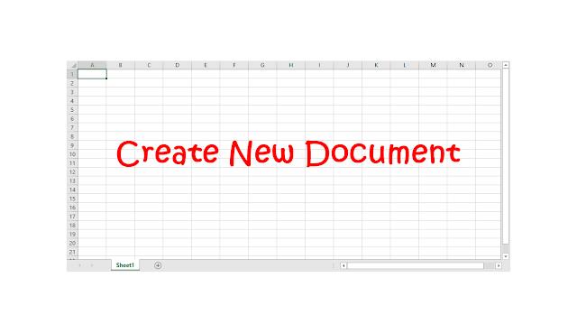 cara membuat dokumen baru excel