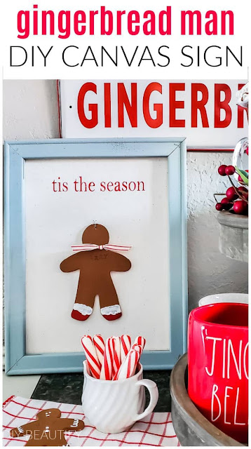 Gingerbread Man Canvas Sign