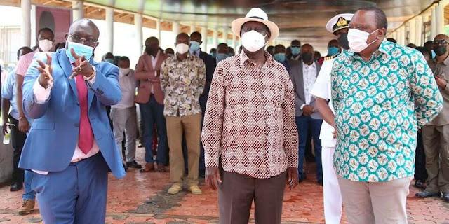 President Uhuru and Raila Odinga photo