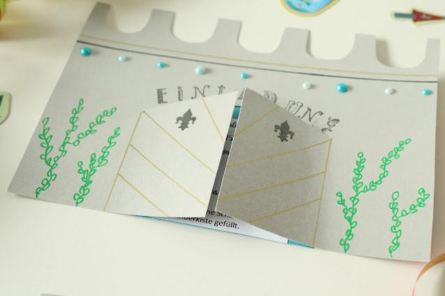 Einladungskarten Ritterburg Prinzessin Schloss Pilot Pintor Marker DIY Projekte Jules kleines Freudenhaus