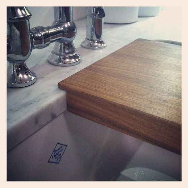 farmhouse sink cutting board before and after brookside. Black Bedroom Furniture Sets. Home Design Ideas
