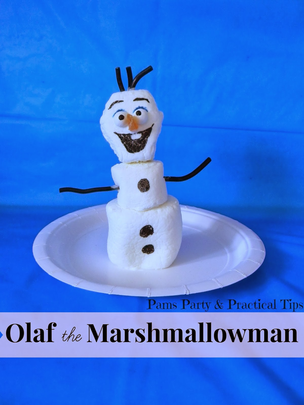 How to make Olaf the Marshmallowman