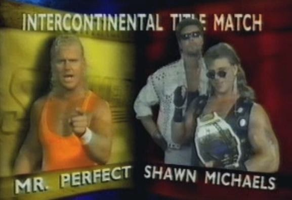 WWF / WWE SUMMERSLAM 1993: Intercontinental Championship match - Shawn Michaels vs. Mr. Perfect