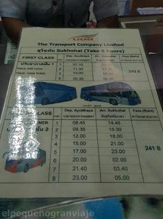 Tarifa, bus, precio, viaje, tailadia