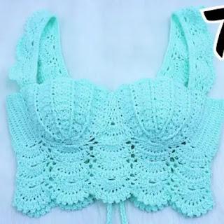 Top Sirena a Crochet