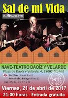 Concierto de Sal de mi vida en Nave-Teatro Daoíz y Velarde