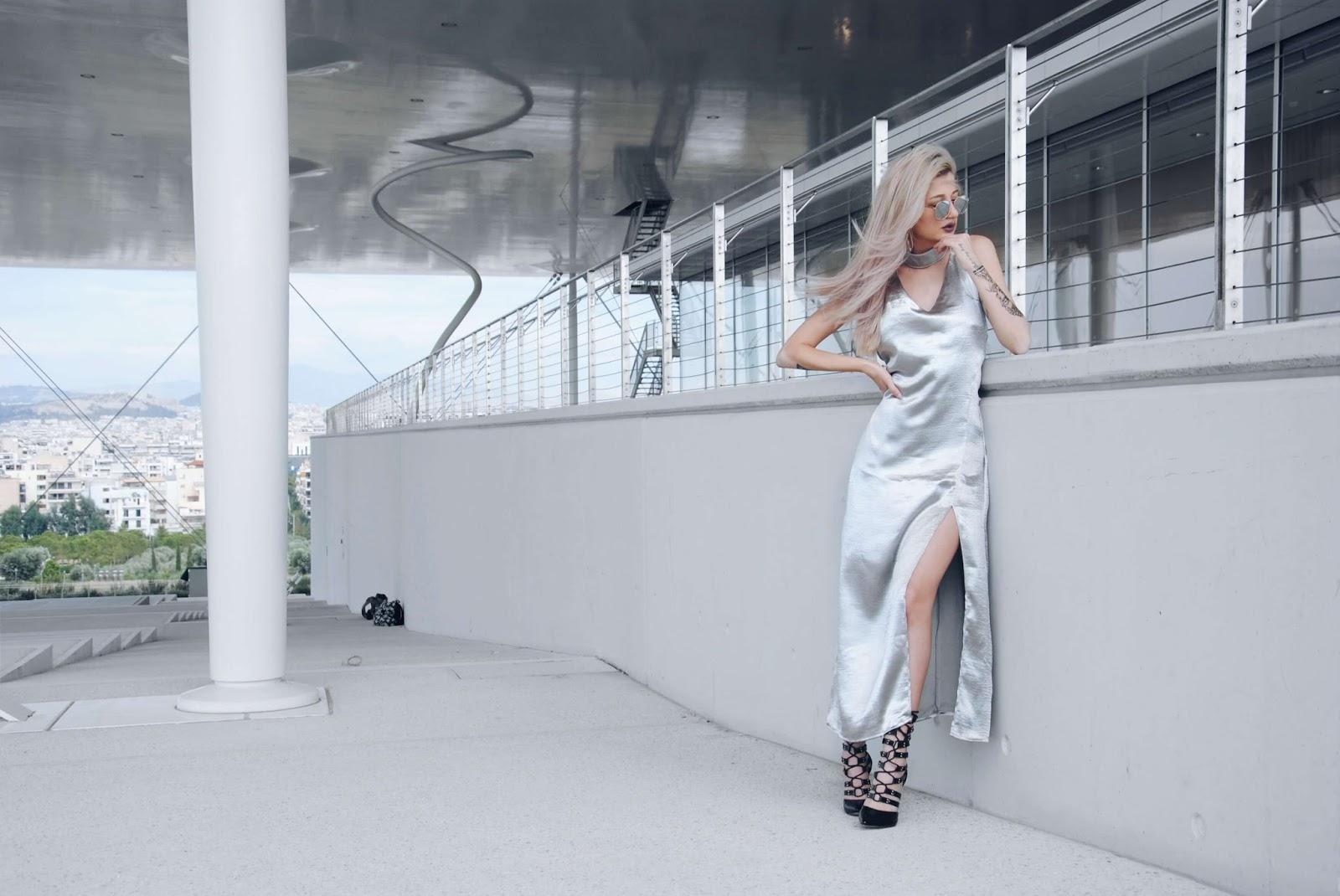 silver dress pinterest