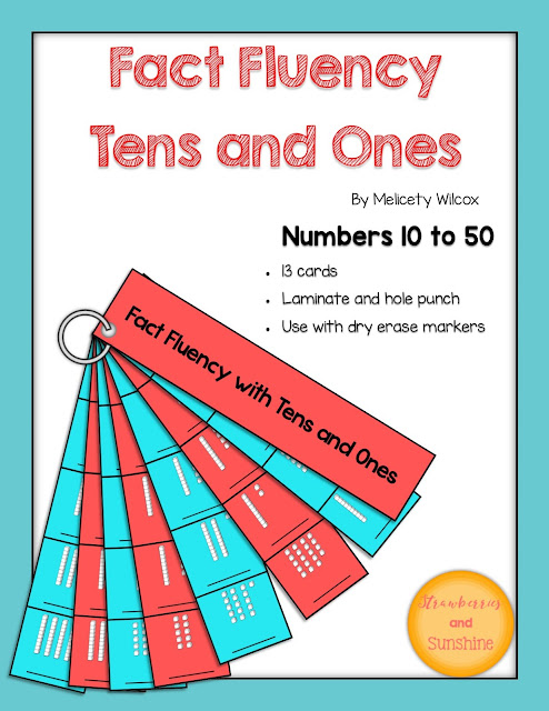 Math Fact Fluency Place Value Tens Ones