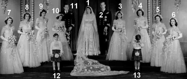 Mariage de la future reine Elizabeth II