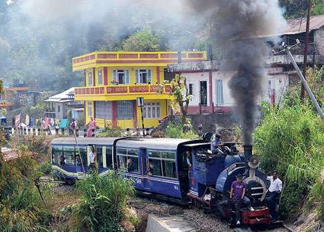Captain in Darjeeling toy train