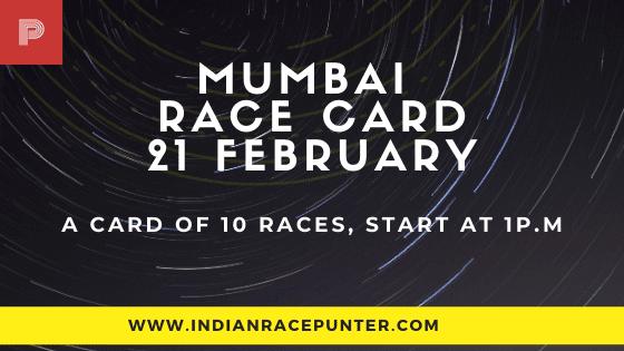 Mumbai Race Card 21 February