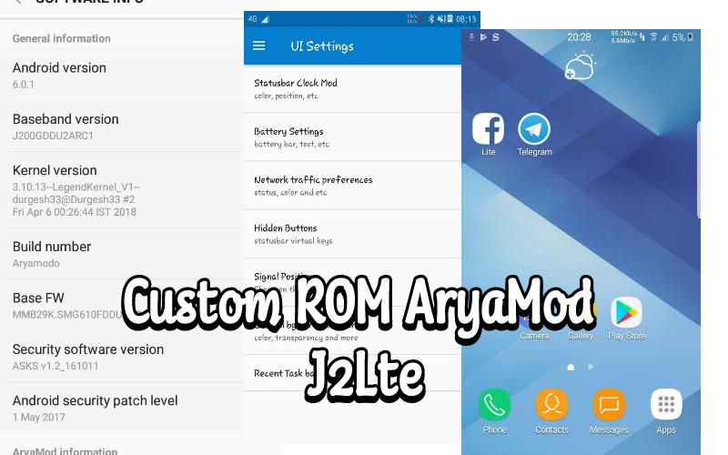 Custom ROM AryaMod for Samsung Galaxy J2lte - DroidROM