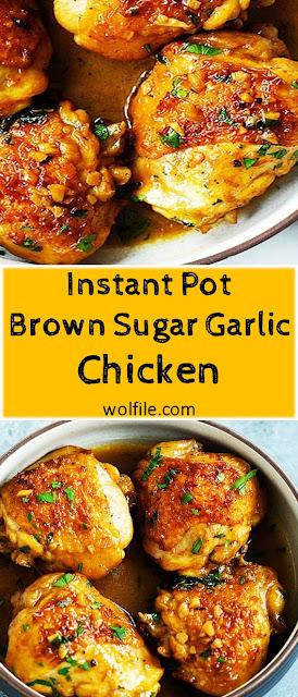 INSTANT POT BROWN SUGAR GARLIC CHICKEN RECIPE #Instant_Pot #Chicken