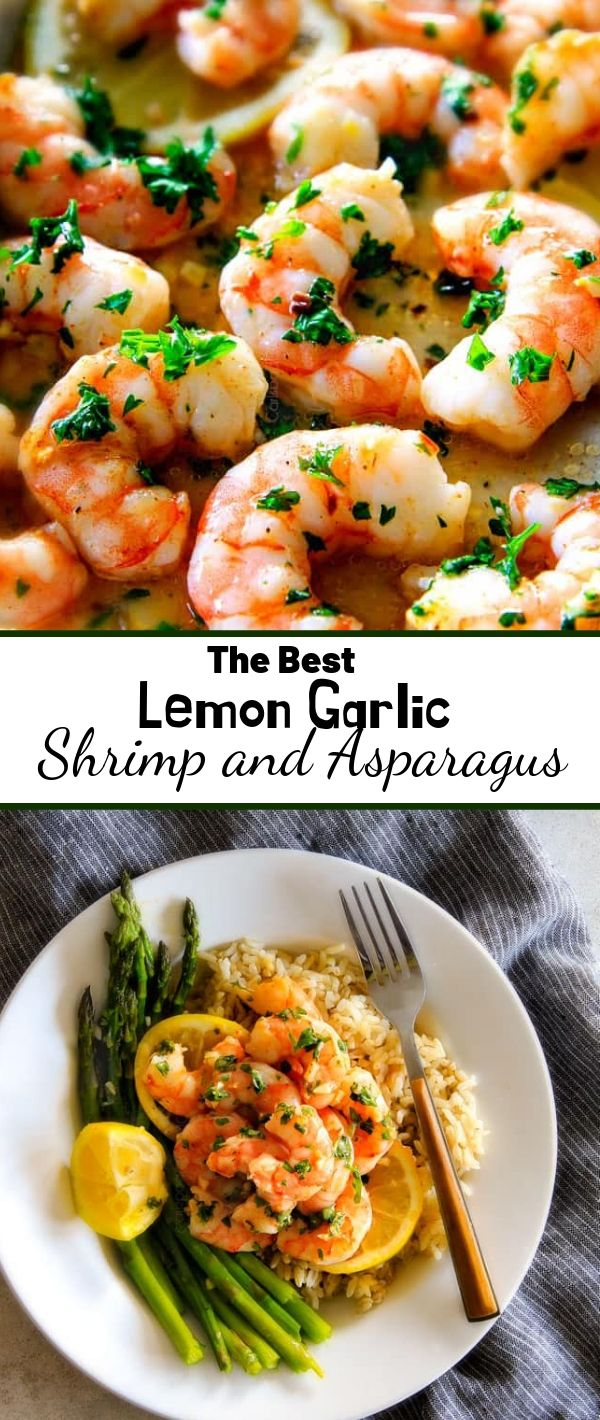 The Best Lemon Garlic Shrimp and Asparagus #The #Best #Lemon #Garlic #Shrimp #and #Asparagus Healthy Recipes For Weight Loss, Healthy Recipes Easy,