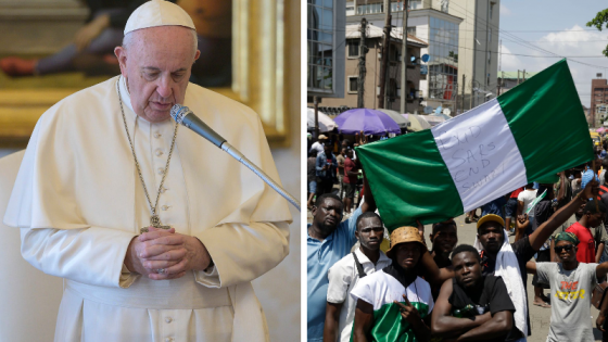 Pope Francis Declares Readiness To Help Nigeria Through Difficult Time