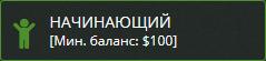Начинающий – Минимальный баланс $ 100
