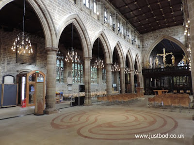 The labyrinth in Wakefield Cathedral
