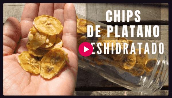Vídeo chips de plátano deshidratado