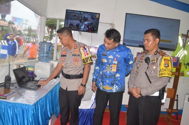 Polres dan Pemkab Lampung Utara Launching SMS Blaster Bagi Pemudik