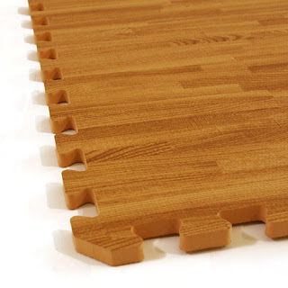 Greatmats wood grain interlocking foam tiles