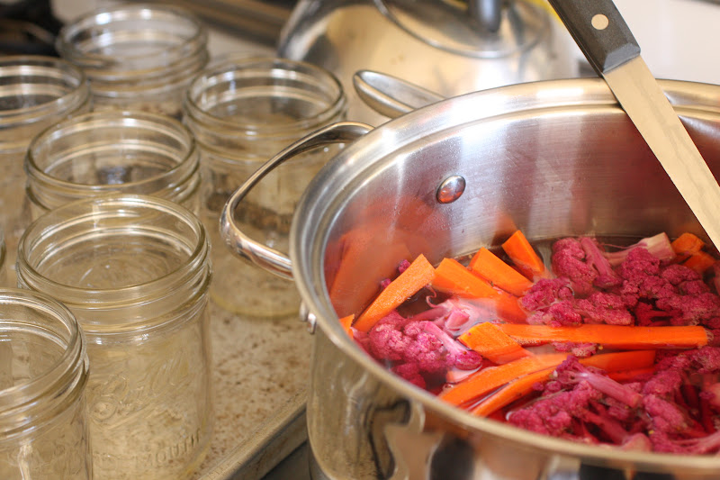 In The Hopeful Kitchen Purple Cauliflower Carrot Jardiniere
