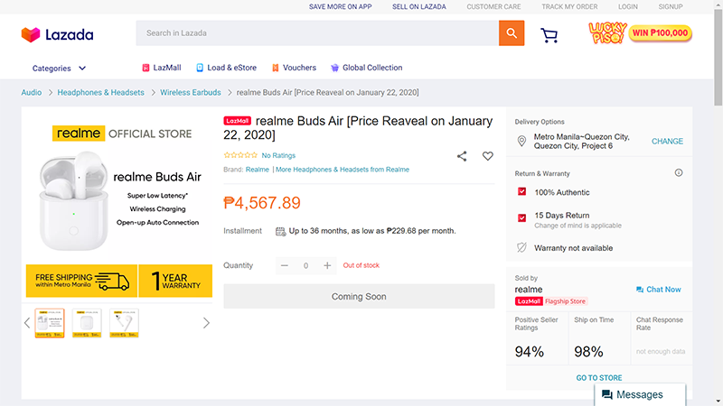 Lazada screenshot (Ignore the listed price, that's just a sample)