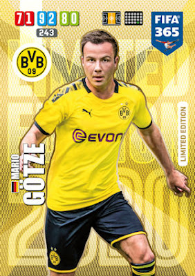 PANINI ADRENALYN XL FIFA 365 2020 IMPACT SIGNING Nº 193 Julian BRANDT Dortmund