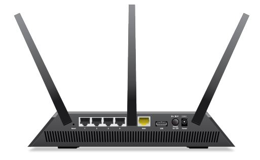 Nighthawk AC2300 Smart WiFi Router back view