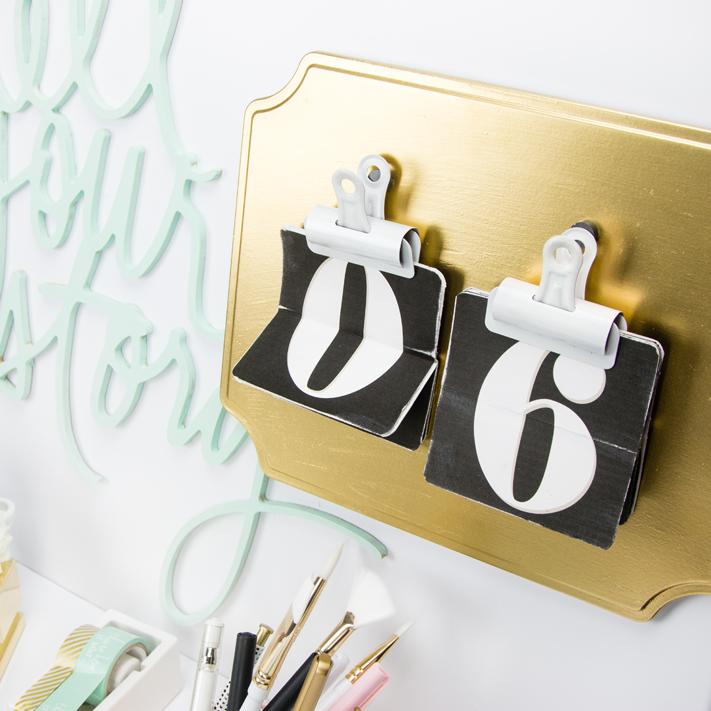 Diy Flip Calendar : Diy office flip calendar create often