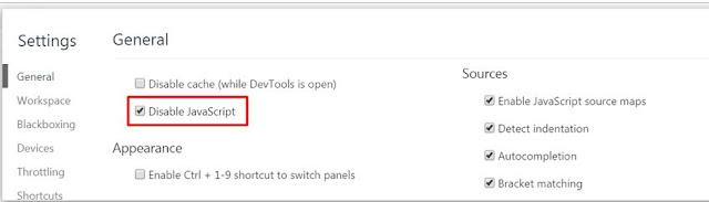chrome-disable-javascript-矛與盾之爭, 破解「鎖右鍵+防複製」的 Chrome 外掛, 以及「保護著作權」的方法