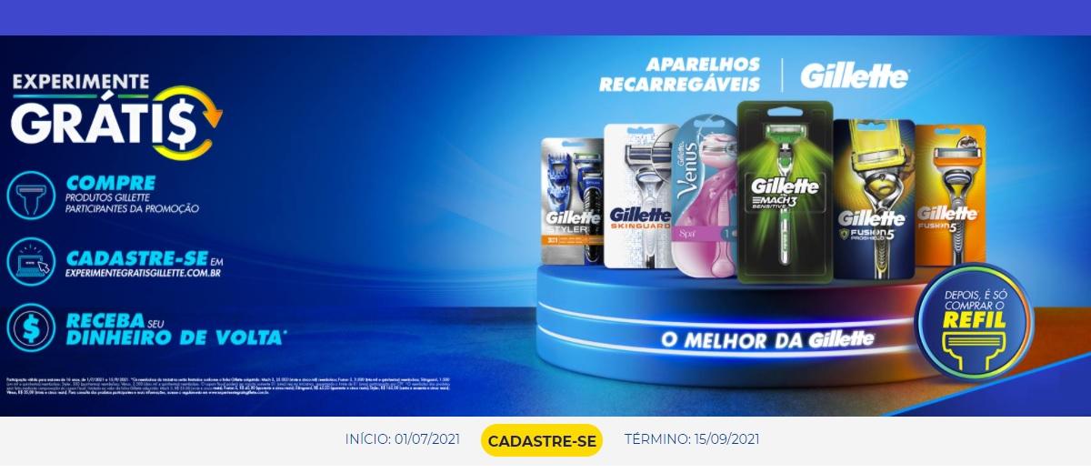 Promoção Gillette 2021 Experimente Grátis