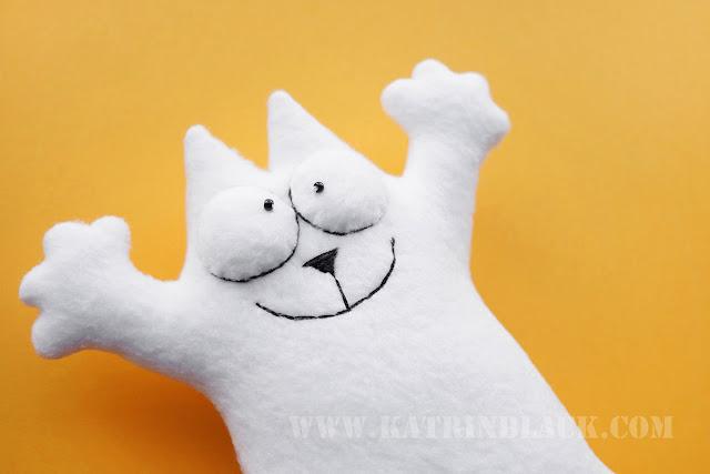 Como a costurar um brinquedo - Cat Simon com suas próprias mãos?  focinho