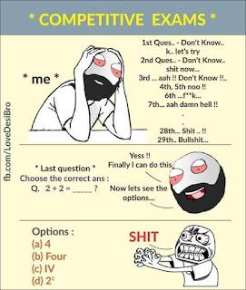 Competitive Exam - funny pics