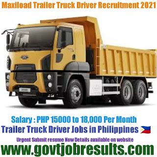 Maxiload Transportation and equipment Corporation Truck Driver Recruitment 2021-22