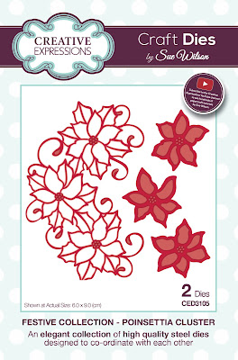 Festive Collection Poinsettia Cluster Dies - CED3105