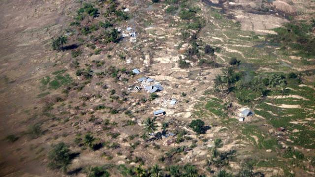 Ngeri, Begini Rekaman Satelit saat Pergeseran Tanah di Palu