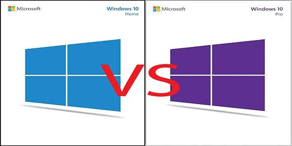 la différence entre Windows 10 et Windows 10 Pro