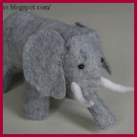 Elefante en fieltro