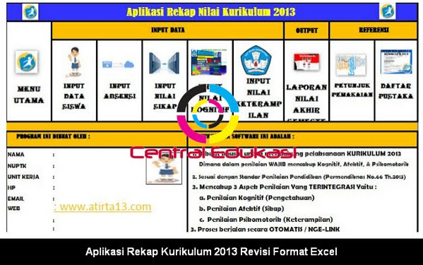 Download Aplikasi Rekap Kurikulum 2013 Revisi Format Excel