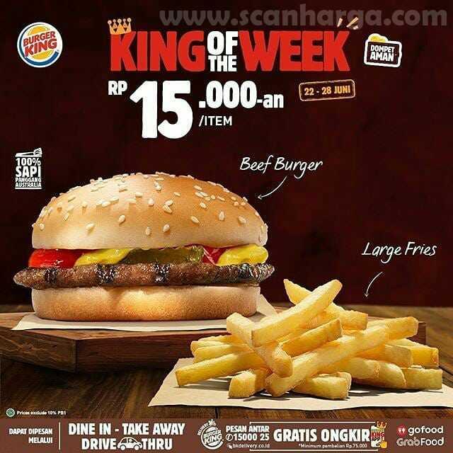 Burger King Promo King Of The Week Periode 22 - 28 Juni 2020 4