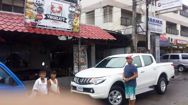 Reinhard Celis and his Mitsubishi Strada