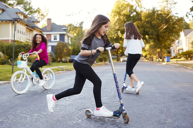 Tween girls having Fun