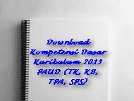 Download Kompetensi Dasar Kurikulum 2013 PAUD (TK, KB, TPA, SPS)