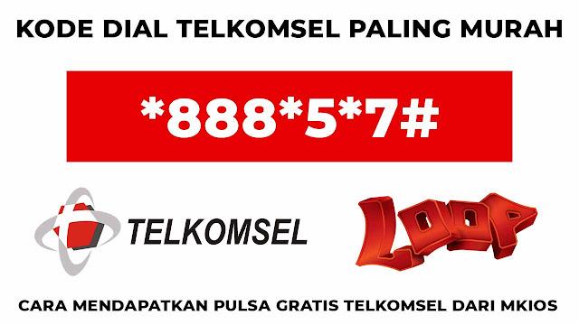 cara mendapatkan pulsa gratis telkomsel dari mkios