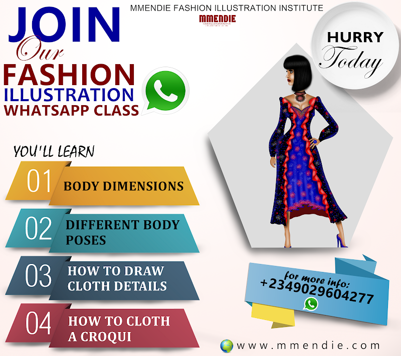 NEW SESSION FOR OUR FASHION ILLUSTRATION WHATSAPP CLASS
