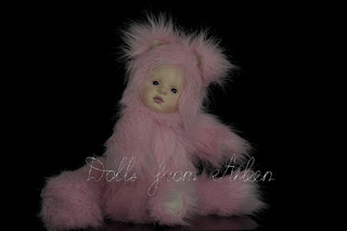 ooak artist kitten teddy doll