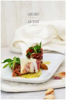 Canelón de jamón con ajo verde de pistachos: la receta perfecta para sorprender ¡¡hiperfácil!!