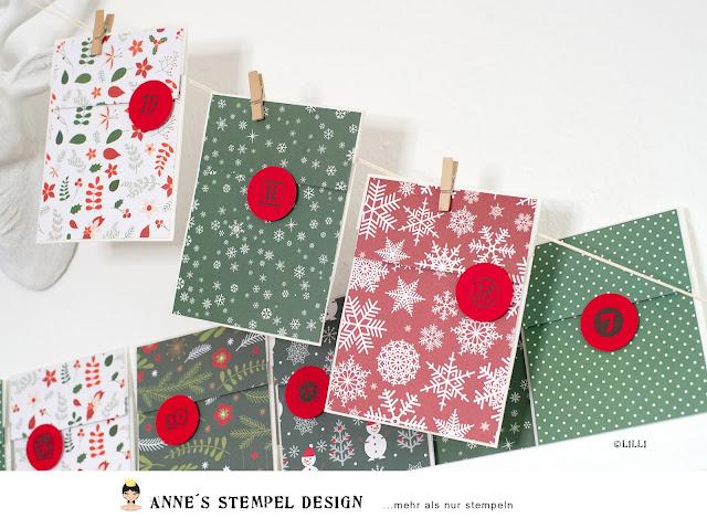 Butterbrotbeutel Adventskalender ist auch eine schöne weihnachtliche Dekoration